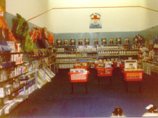 Our chemicals & accessories display in the mid 90s