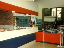 Our original front counter in 1988