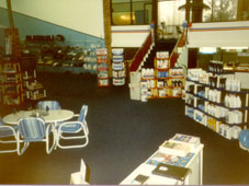 Our shop layout and relocated counter in the early 90s